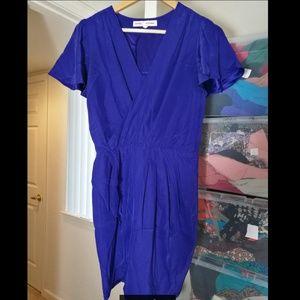 100% SILK Amanda Uprichard blue dress